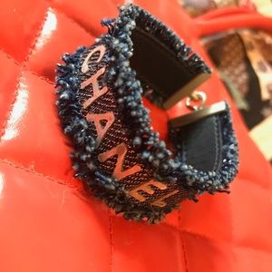 Chanel authentic bracelet distressed jean 6.8""